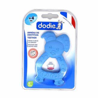 Dodie Anneau de Dentition Lapin Bleu +4 mois