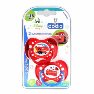 Dodie Sucette Anatomique Silicone +18 mois Cars A69