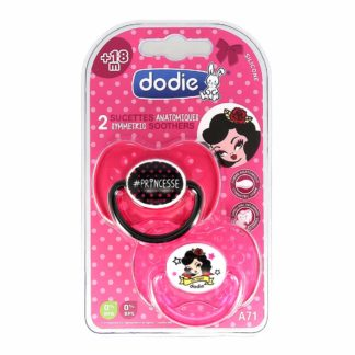 Dodie Sucette Anatomique Silicone +18 mois Duo Girly A71