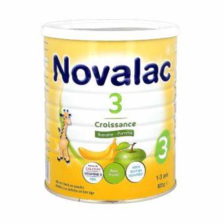 Novalac Lait de Croissance 3ème âge Banane/Pomme