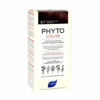 Phytocolor Coloration Permanente 5.7 Châtain Clair Marron