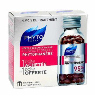 Phytophanère Cheveux et ongles 2x120 capsules Complément ...