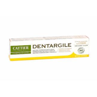 Cattier Dentargile Citron Dentifrice Reminéralisant à l'argile