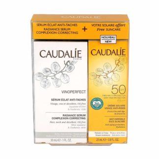 Caudalie Vinoperfect Coffret Sérum + Crème Solaire Offerte