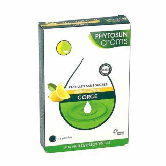 Phytosun Arôms Gorge Pastilles Sans Sucres Arôme Citron