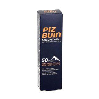 Piz Buin Mountain Sun Cream SPF 50 + lipstick