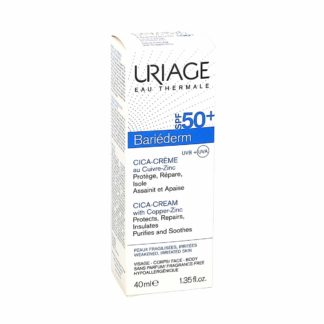 Uriage Bariederm Cica Crème SPF50+ au Cuivre-Zinc