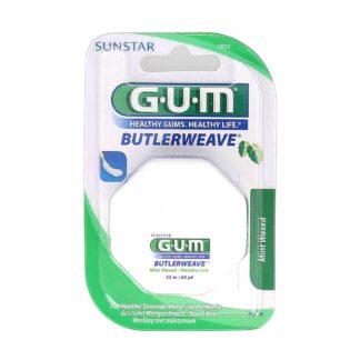 GUM Butlerweave Fils Dentaire Ciré Menthe