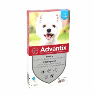 Advantix Anti-Puces Petits Chiens 4-10kg