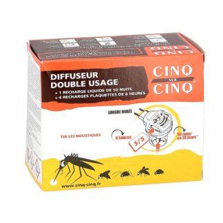 Cinq sur Cinq Diffuseur Anti-Moustiques Double Usage