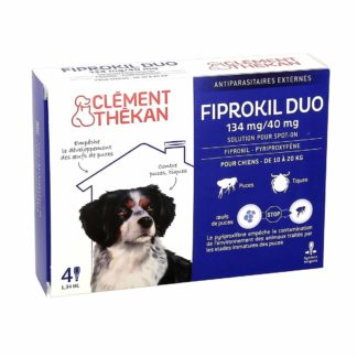 Clement Thekan Fiprokil Duo 134mg 40mg Chiens 10-20kg