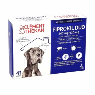 Clement Thekan Fiprokil Duo 402mg 120mg Chiens 40-60kg