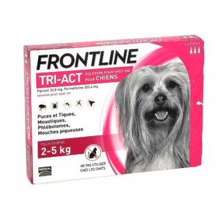 Frontline Tri-Act Solution pour Spot-On Chiens de 2-5kg