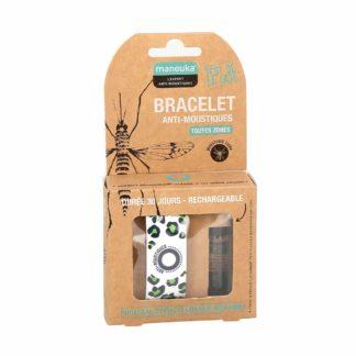 Manouka Bracelet Anti-Moustiques et Recharge de 6ml