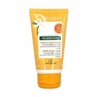 Polysianes Crème Solaire Sublime auTamanu Bio et au Monoi Visage SPF30+