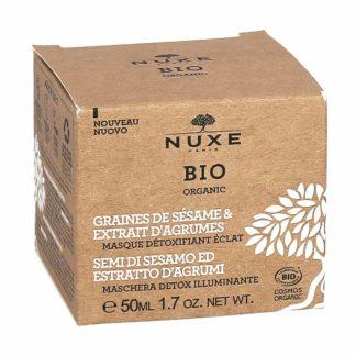Nuxe Bio Organic Graines de Sésame & Extrait d'Agrumes Masque Détoxifiant Eclat