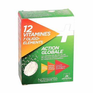 Nutrisanté Action Globale 12 Vitamines + 7 Oligo-Eléments